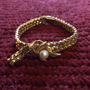 Jewelry - 18K antique gold bracelet and earrings set